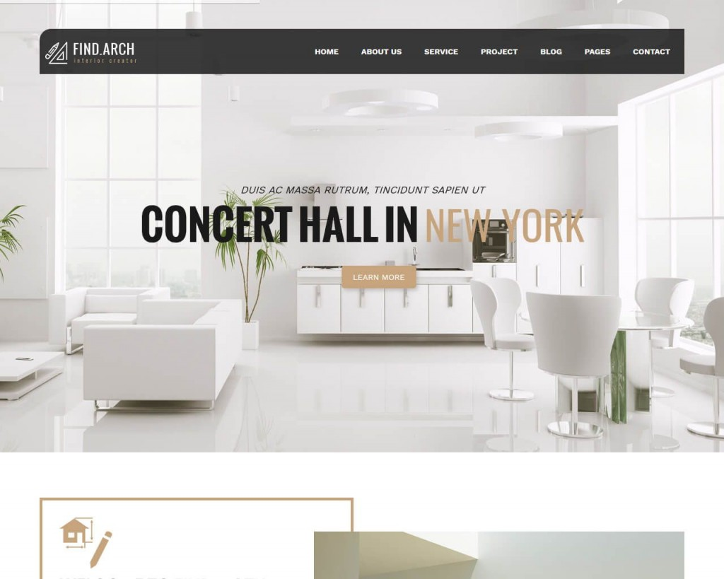 003 Simple Interior Design Website Template Highest Quality  Templates Company Free Download HtmlLarge