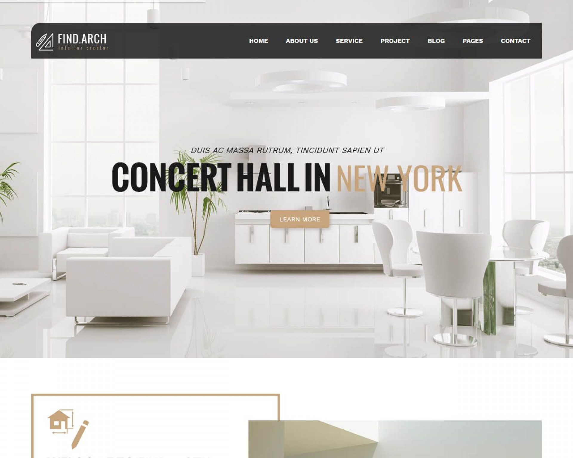 003 Simple Interior Design Website Template Highest Quality  Templates Company Free Download Html1920