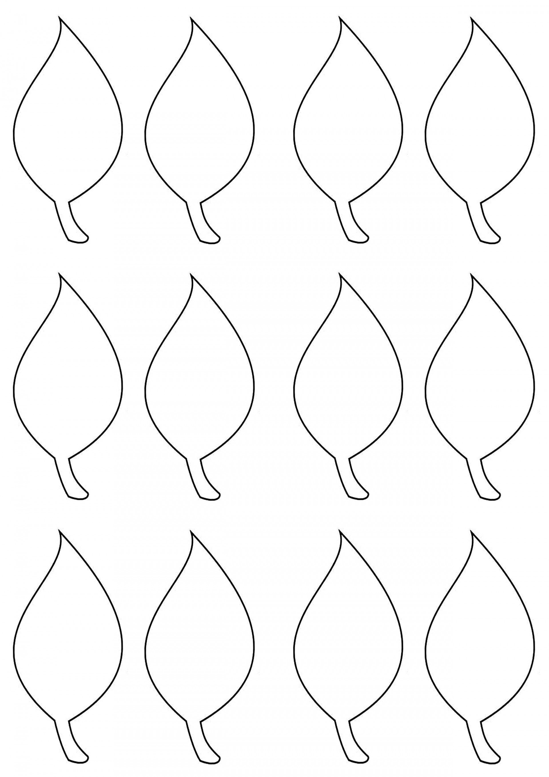003 Simple Leaf Template With Line Sample  Fall Printable Blank1920