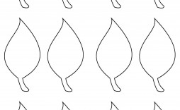 003 Simple Leaf Template With Line Sample  Lines Writing Printable