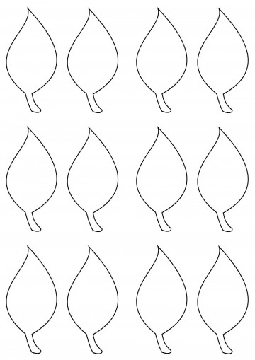 003 Simple Leaf Template With Line Sample  Fall Printable Blank360