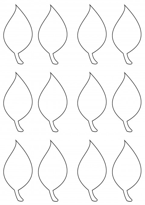 003 Simple Leaf Template With Line Sample  Fall Printable Blank480
