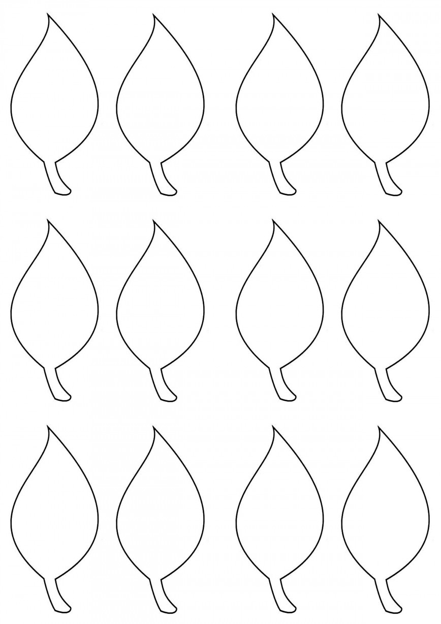 003 Simple Leaf Template With Line Sample  Fall Printable Blank868