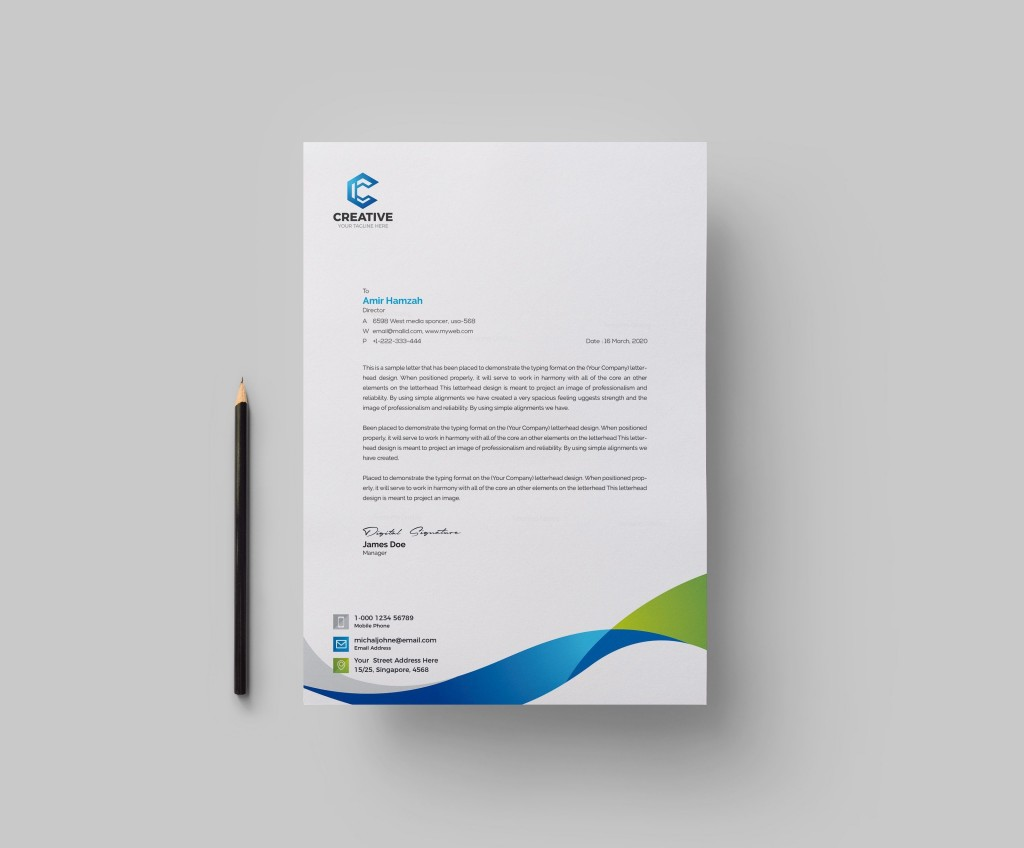 003 Simple Letter Pad Design Template Inspiration  Letterhead Download Ai Free In WordLarge
