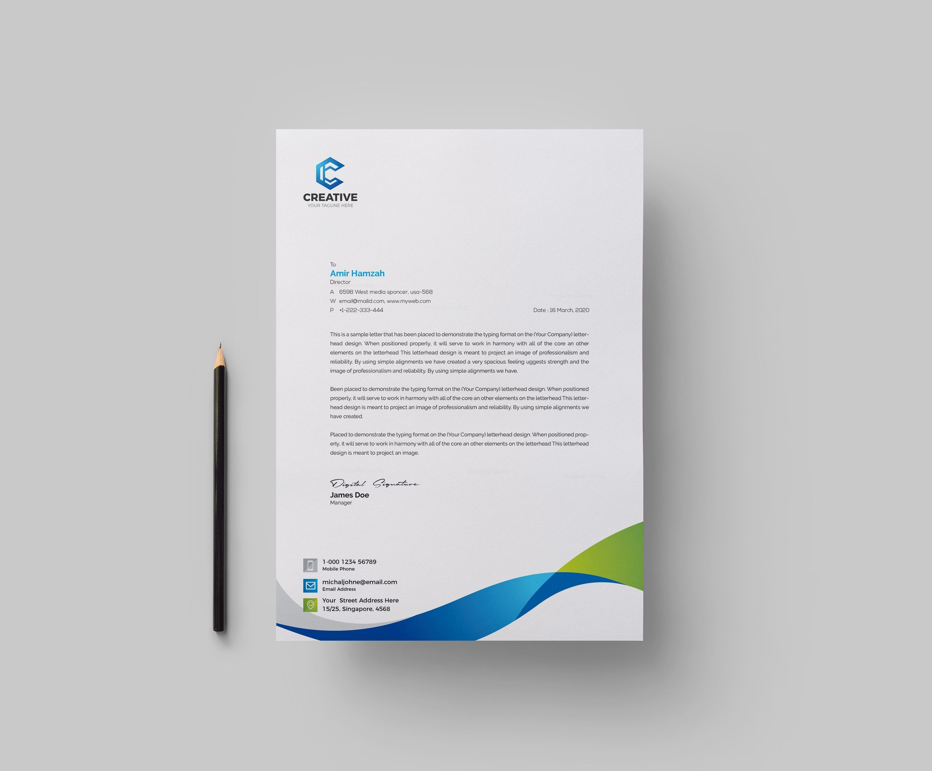 003 Simple Letter Pad Design Template Inspiration  Letterhead Download Ai Free In WordFull