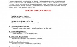 003 Simple Market Research Report Template Idea  Excel Sample Free