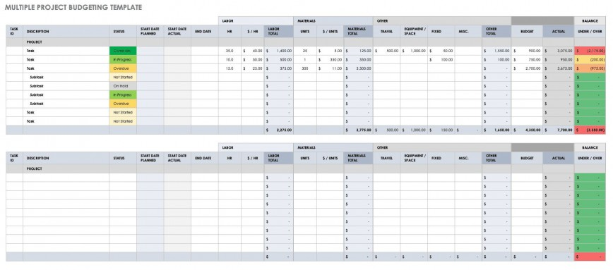 003 Simple Multiple Project Tracking Template Excel High Resolution  Free Download Resource