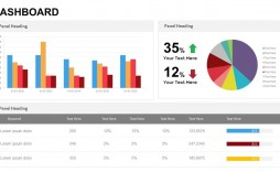 003 Simple Project Management Dashboard Powerpoint Template Free Download High Def