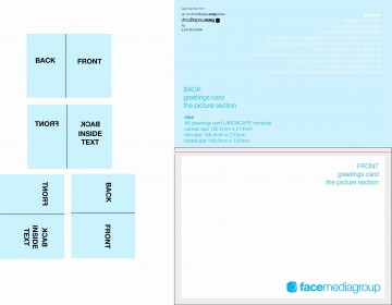 003 Simple Quarter Fold Card Template Publisher Highest Clarity 360