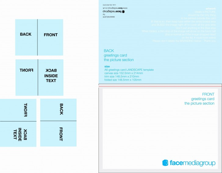 003 Simple Quarter Fold Card Template Publisher Highest Clarity 728