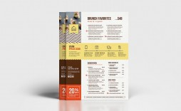 003 Simple To Go Menu Template High Def  Tri Fold Word Restaurant Free