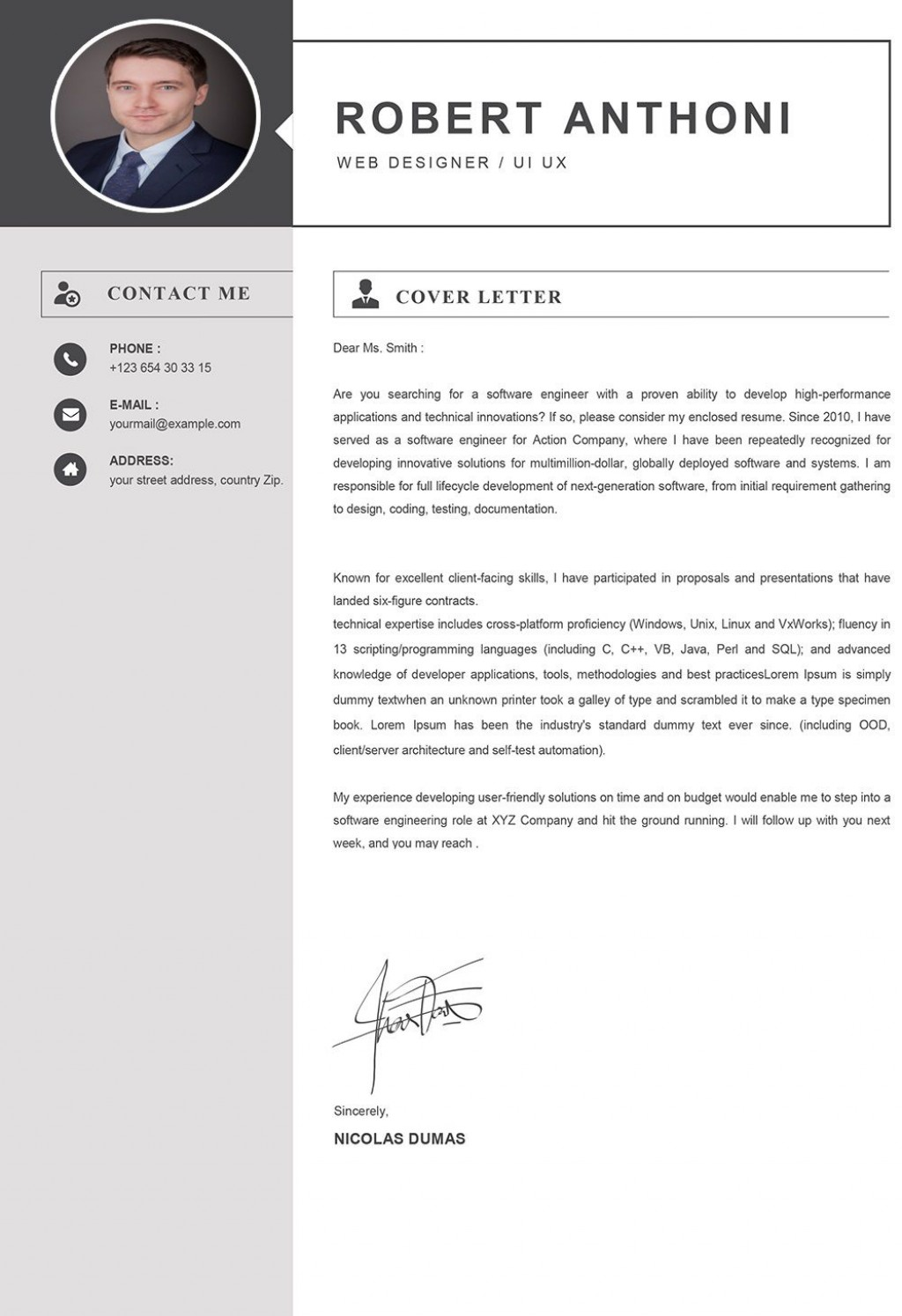 003 Simple Window Resume Cover Letter Template High Resolution  TemplatesLarge
