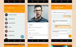 003 Singular Android App Design Template High Definition  Psd Free Download Chat For Ui