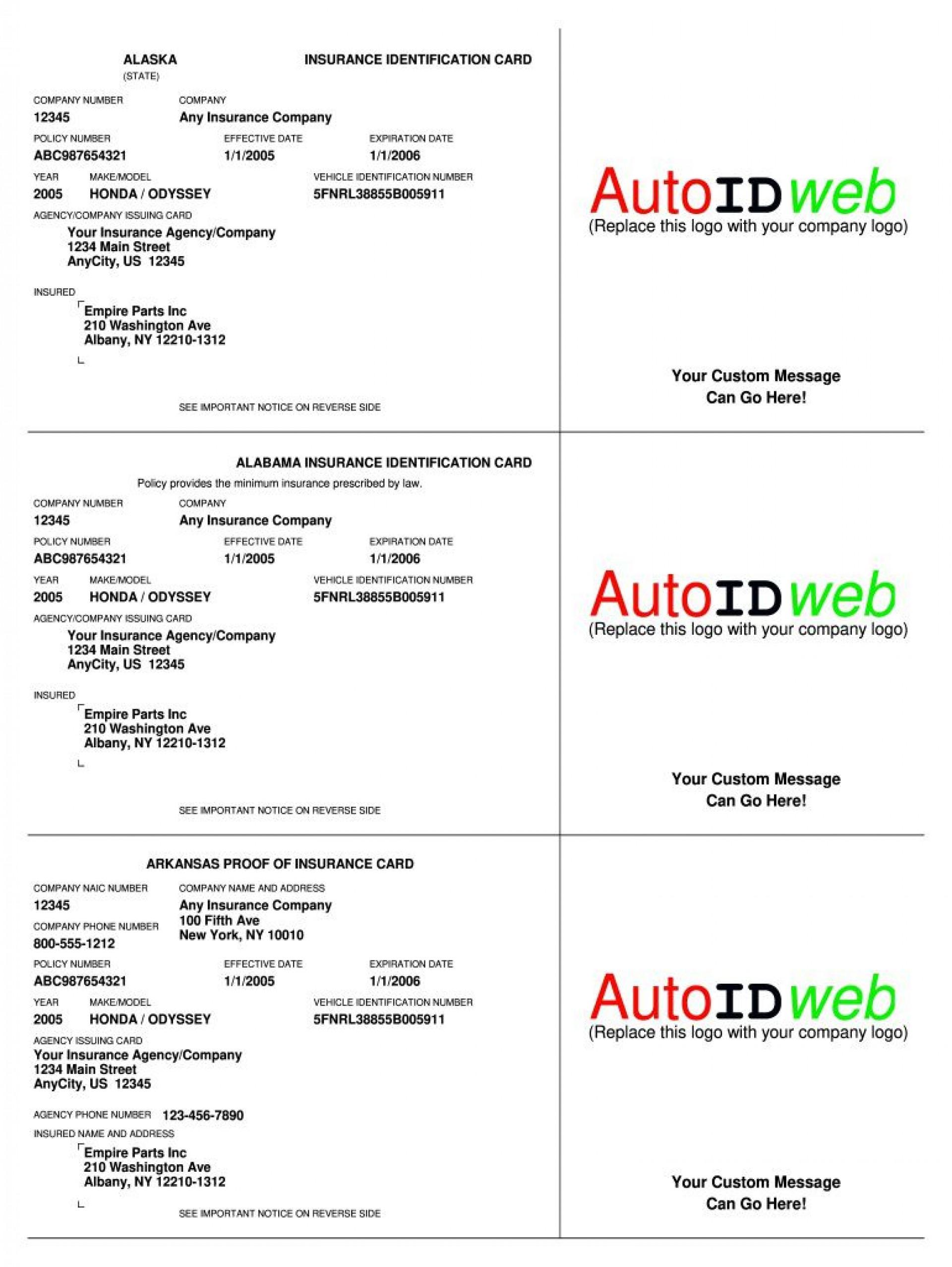 003 Singular Auto Insurance Card Template Pdf High Definition  Car Fake Geico Filler1920