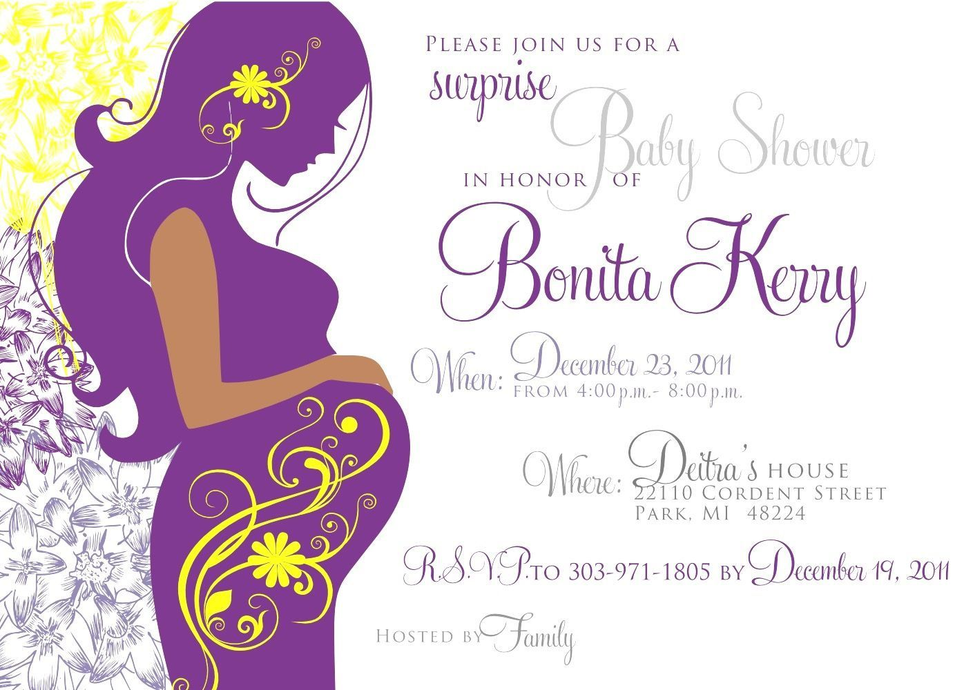 003 Singular Baby Shower Invite Template Word Design  Invitation Wording Sample Free ExampleFull