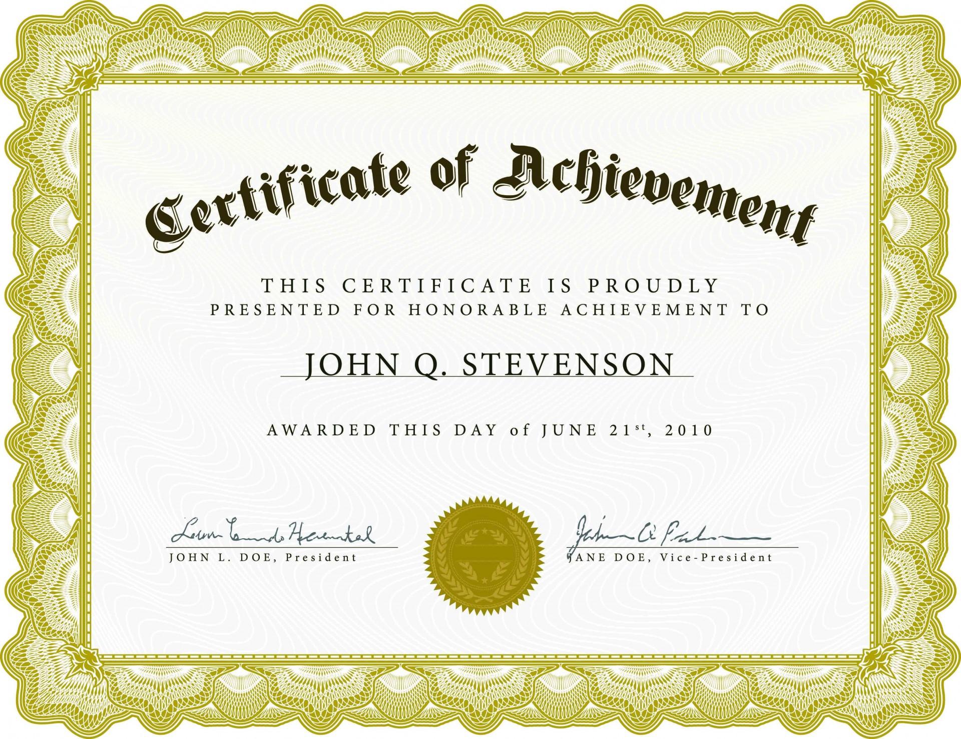 003 Singular Certificate Of Recognition Template Word Design  Award Microsoft Free1920