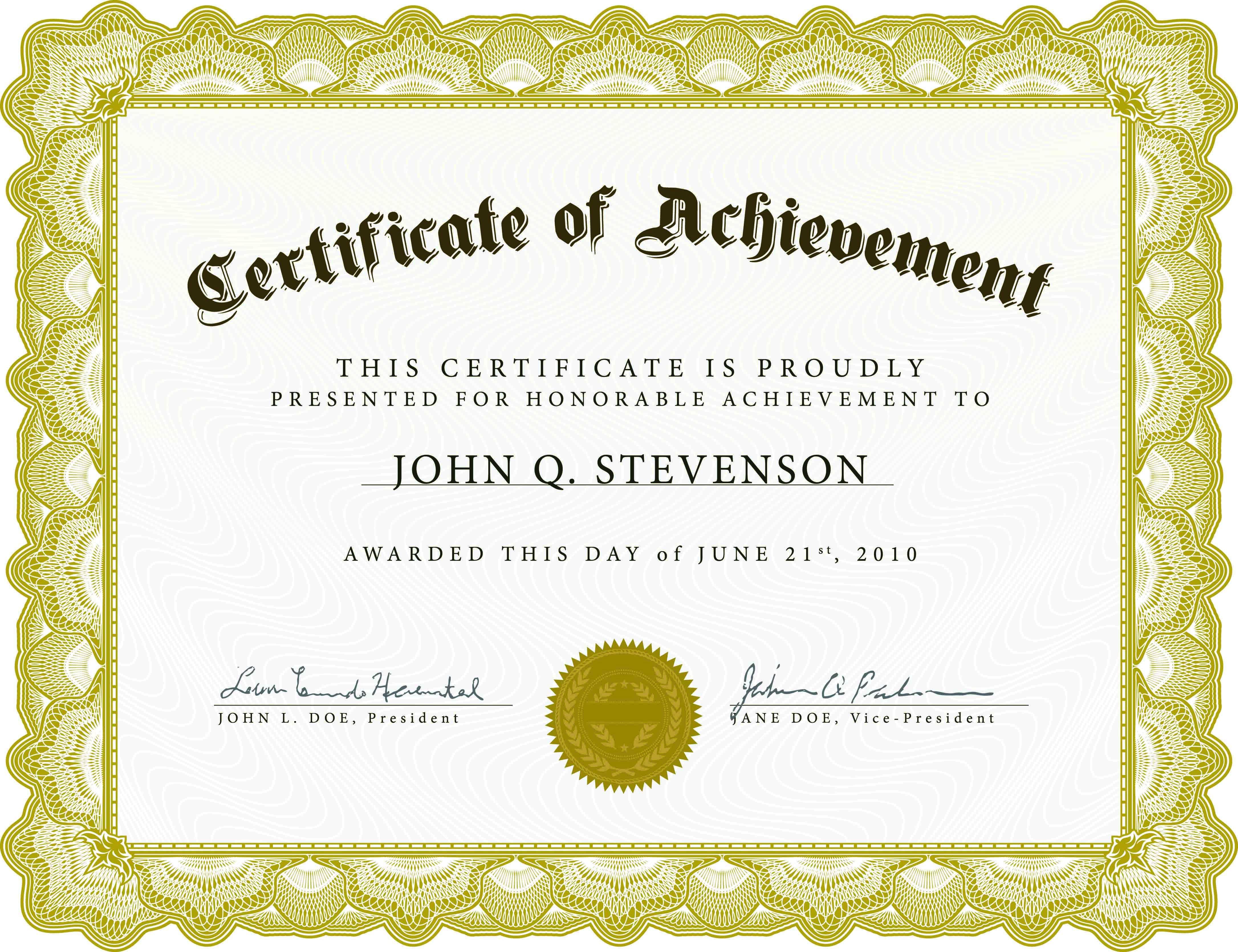 003 Singular Certificate Of Recognition Template Word Design  Award Microsoft FreeFull