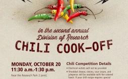 003 Singular Chili Cook Off Flyer Template Design  Halloween Office Powerpoint