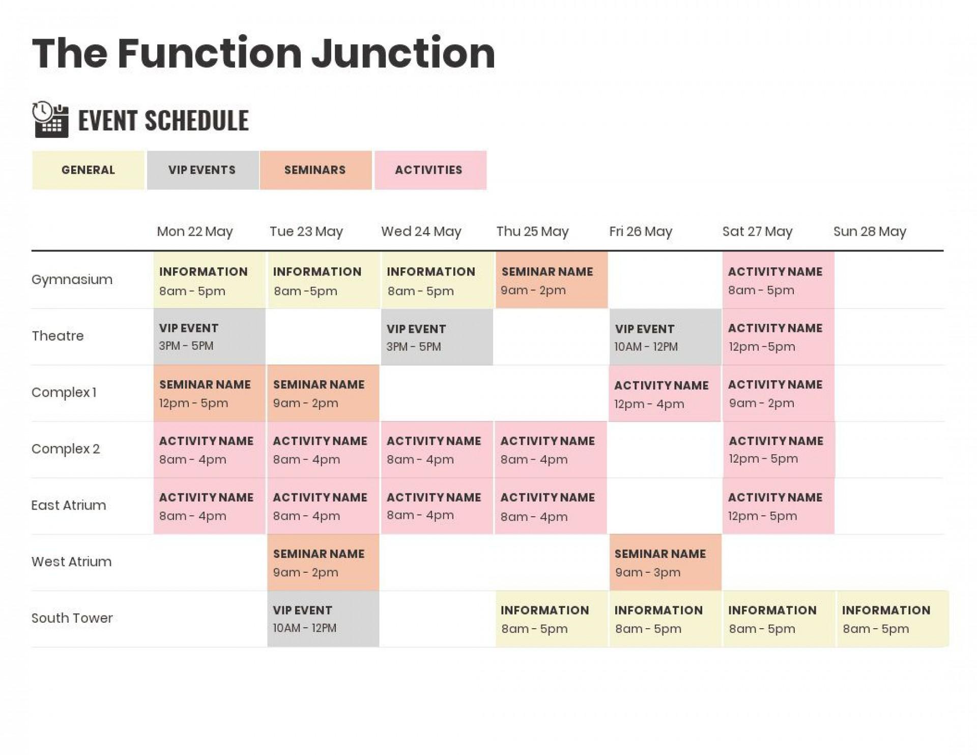003 Singular Event Planning Timeline Template High Definition  Free Excel1920