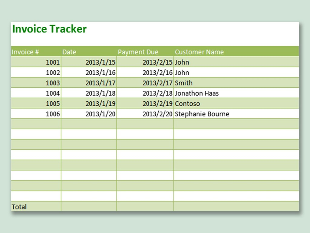 003 Singular Excel Invoice Tracking Template Download High Resolution Large
