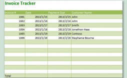 003 Singular Excel Invoice Tracking Template Download High Resolution