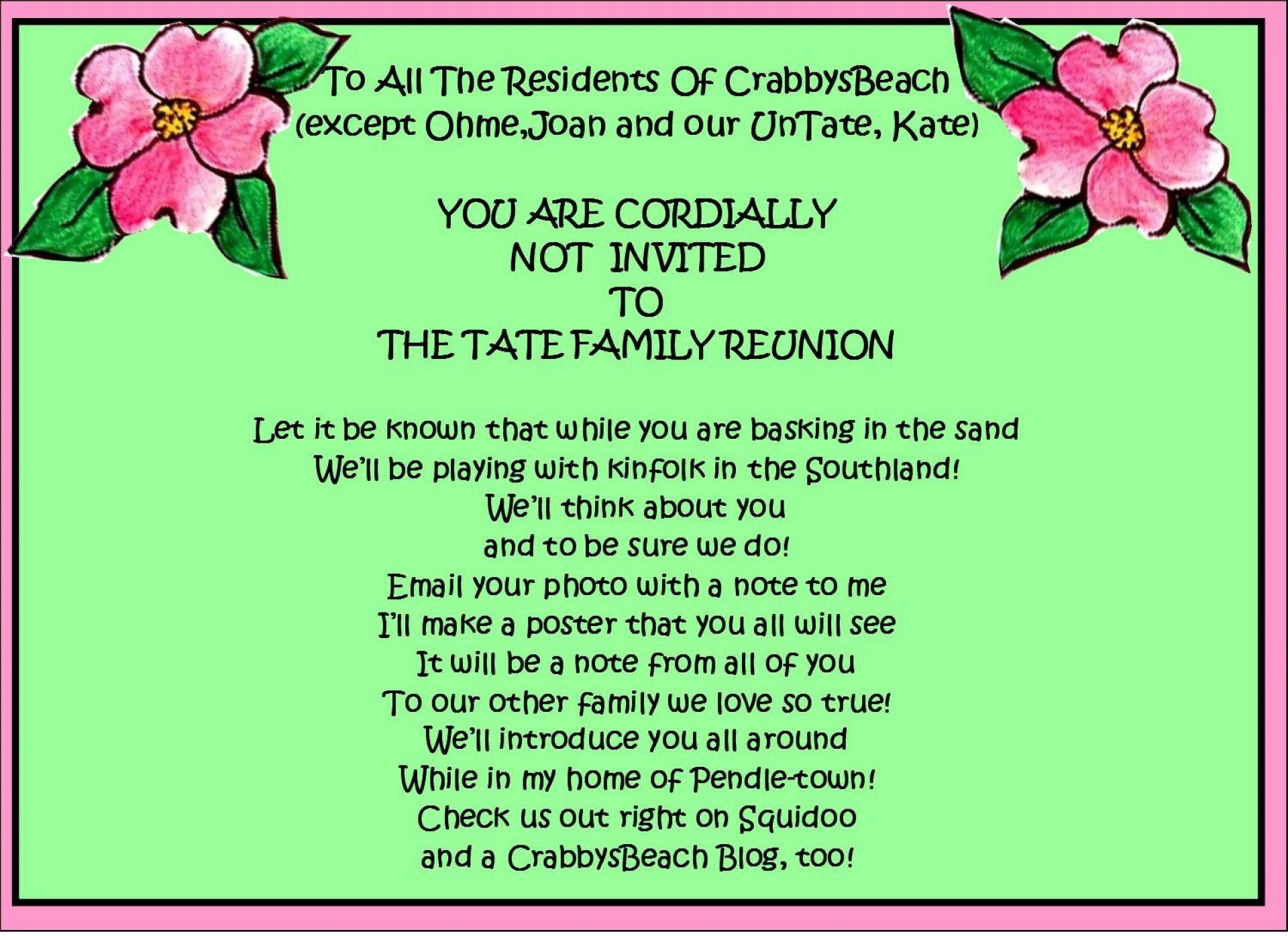 003 Singular Family Reunion Invitation Template Free High Def  For Word Online1920