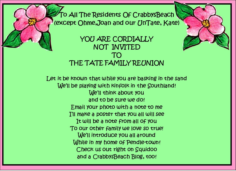 003 Singular Family Reunion Invitation Template Free High Def  For Word OnlineFull