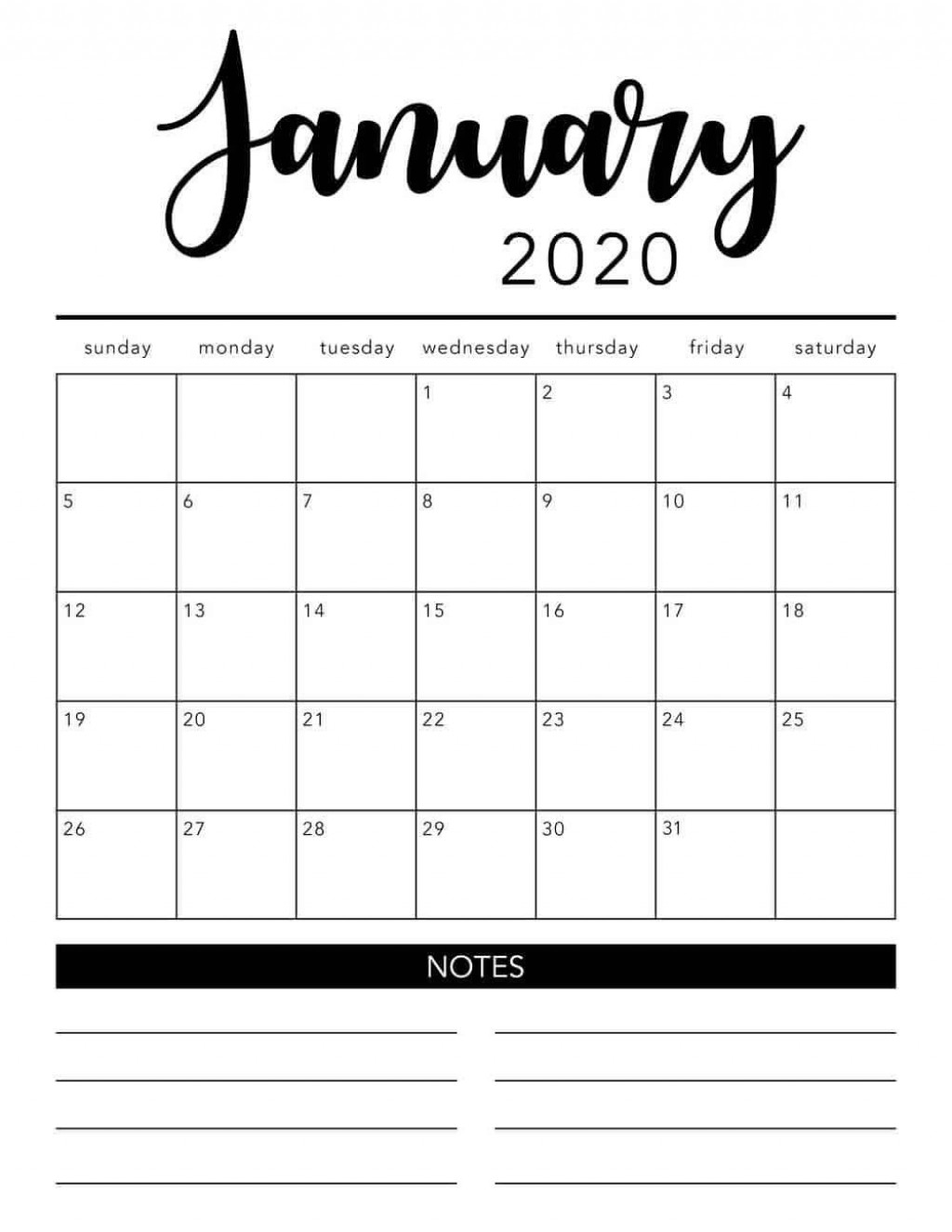 003 Singular Free 2020 Calendar Template Photo  Templates Monthly Excel Download Printable MayLarge