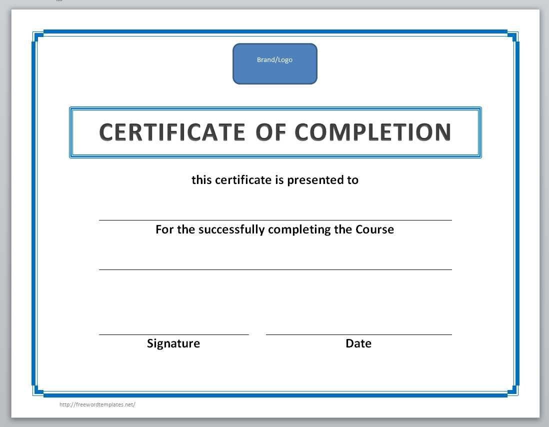 003 Singular Free Certificate Template Word Example  Blank For Microsoft Award Border DownloadFull