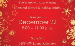003 Singular Free Holiday Invite Template Example  Templates Party Ticket For Email