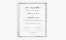 003 Singular Free Marriage Certificate Template Sample  Fillable Wedding Download Renewal