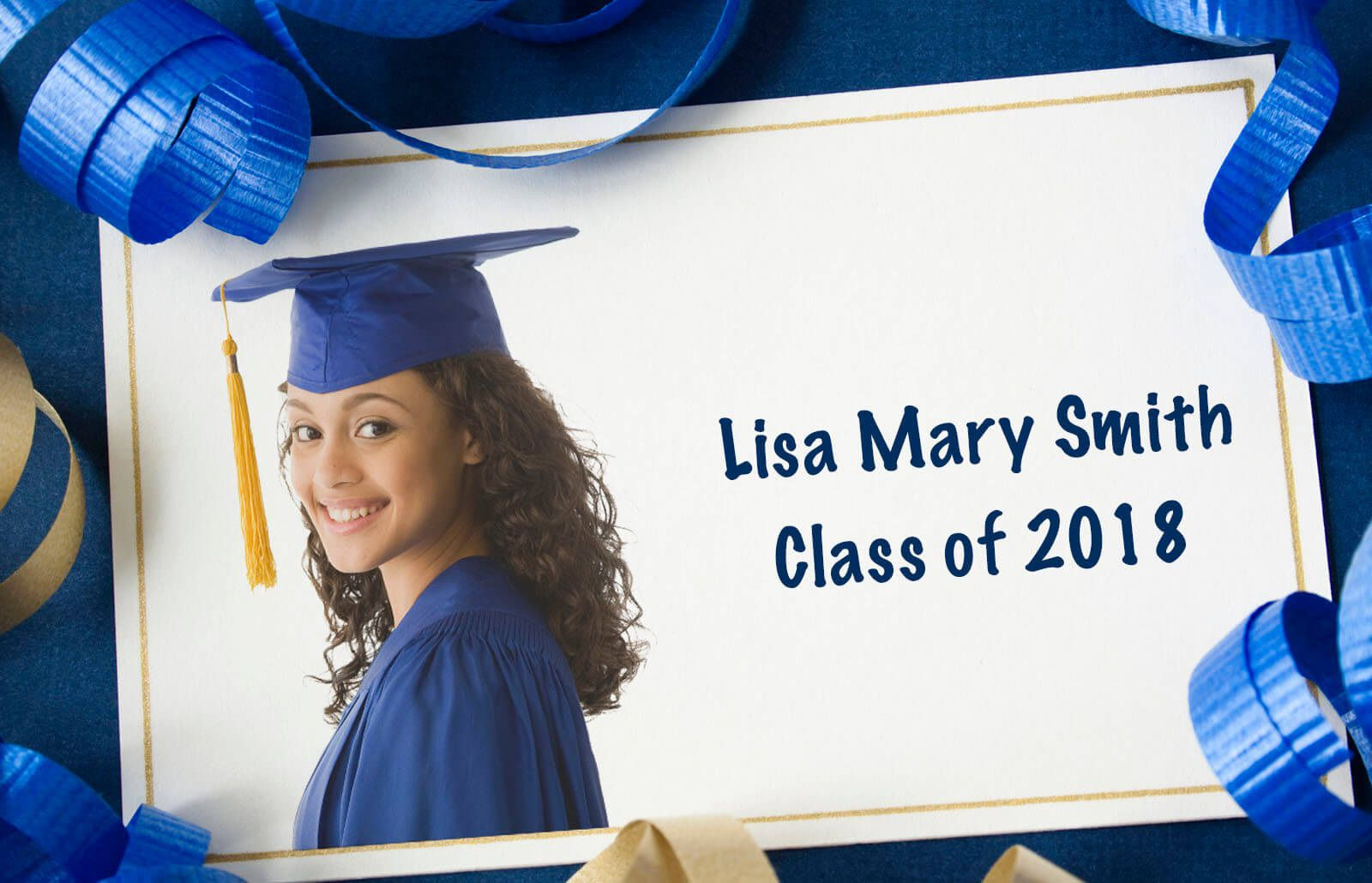 003 Singular Free Printable Graduation Announcement Template Concept Full