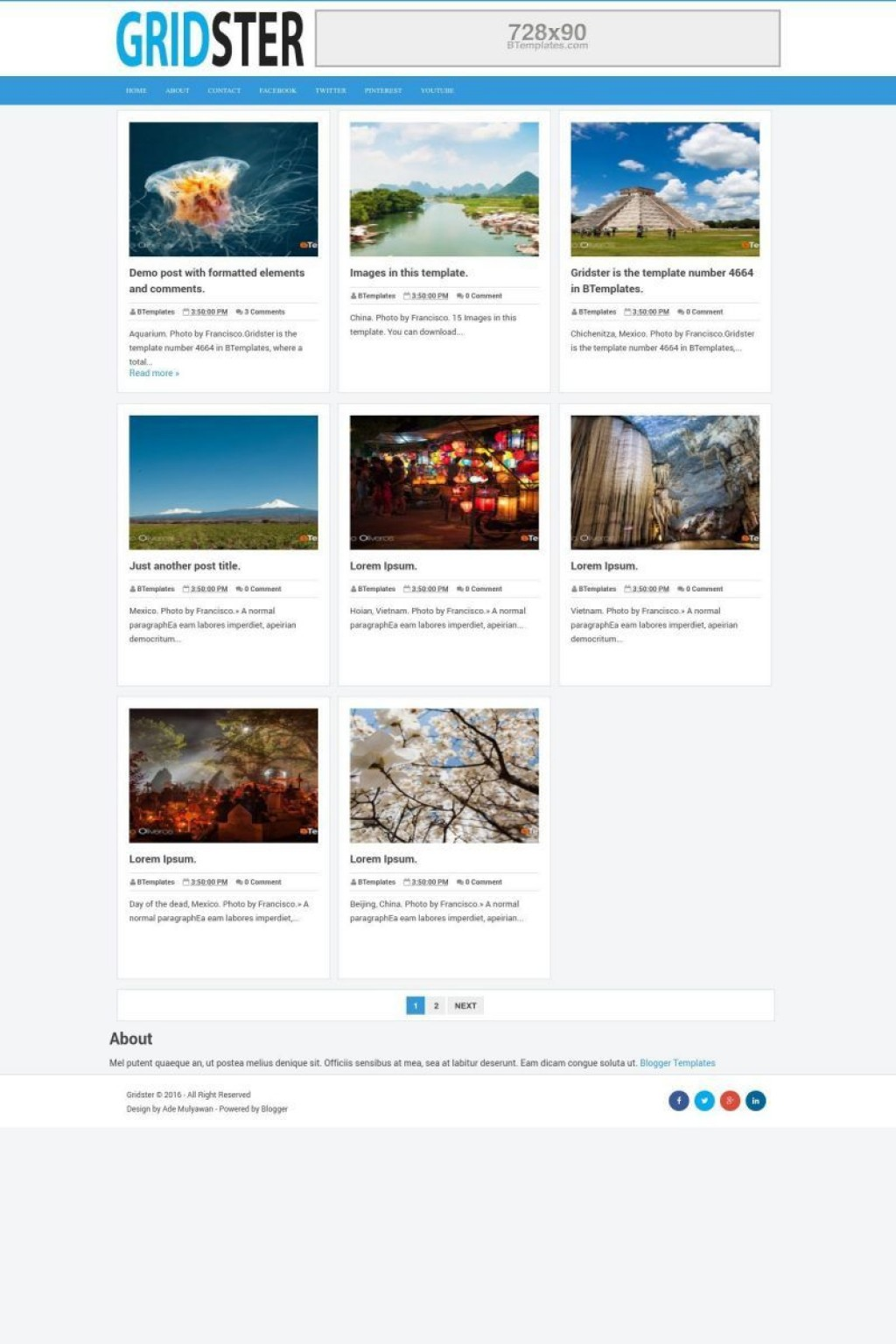 003 Singular Free Responsive Blogger Template One Column High Def Large