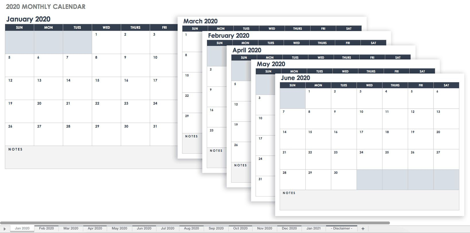 003 Singular Google Sheet Calendar Template 2020 Highest Quality  Monthly And 2021 2020-21Full