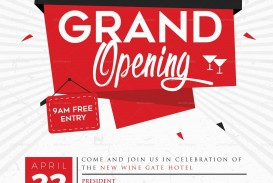 003 Singular Grand Opening Flyer Template Design  Free Psd Busines