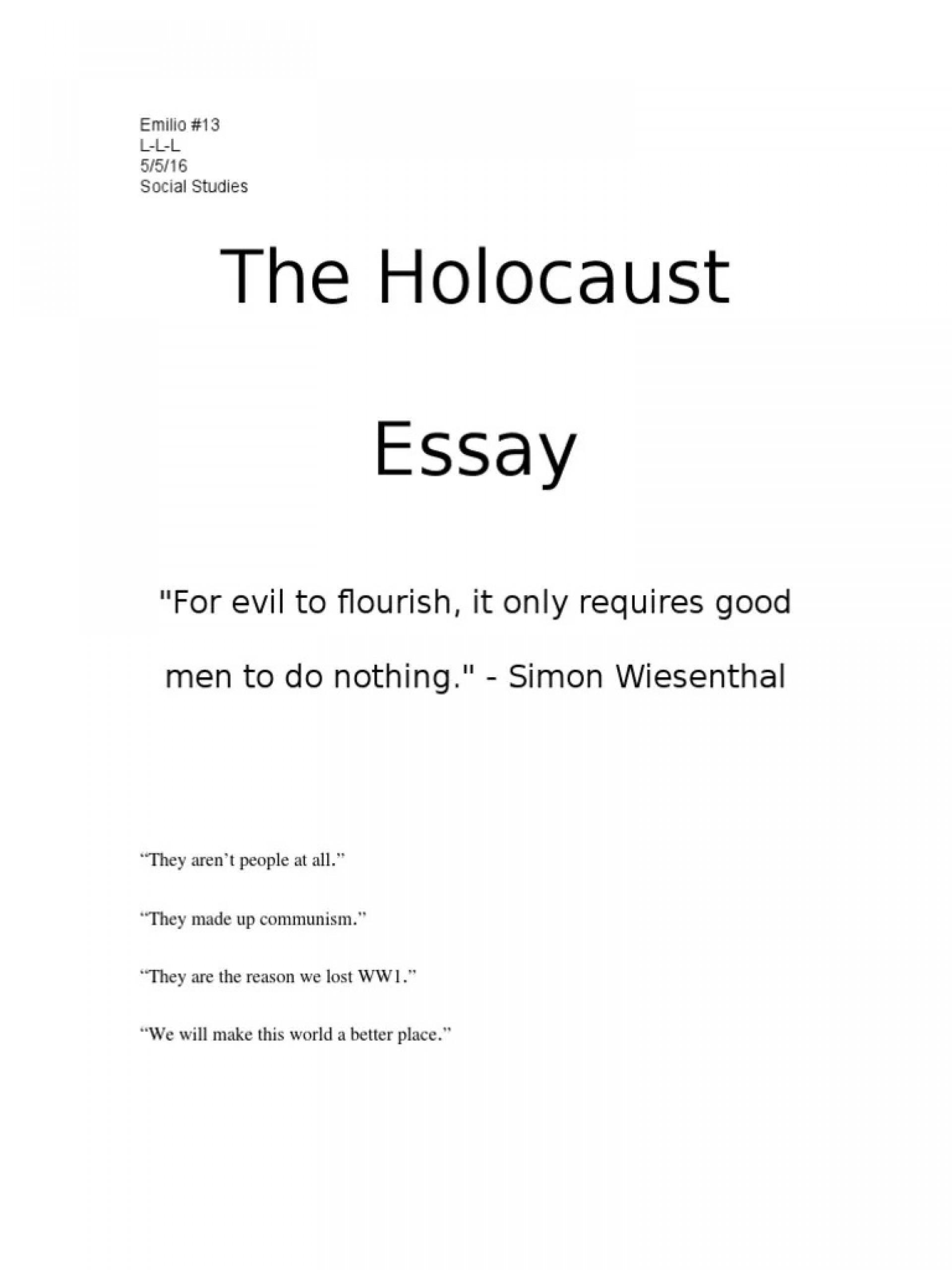 003 Singular Holocaust Essay Design  Thesi Hook Contest 20201920