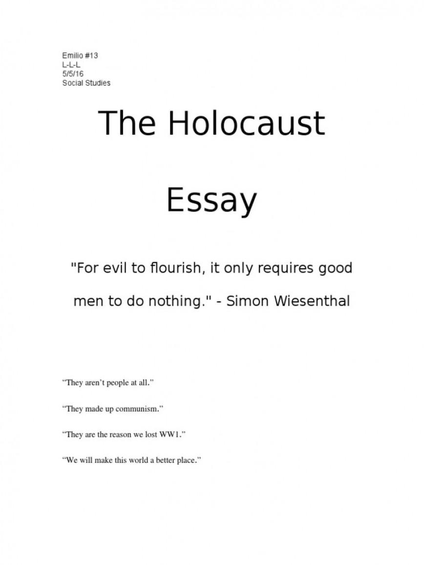 003 Singular Holocaust Essay Design  Thesi Hook Contest 2020868