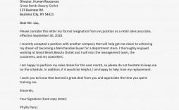 003 Singular Professional Resignation Letter Template Sample  Best Format Pdf How To Write A