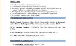 003 Singular Resume Sample For Teaching Job In India Image  School Principal Position