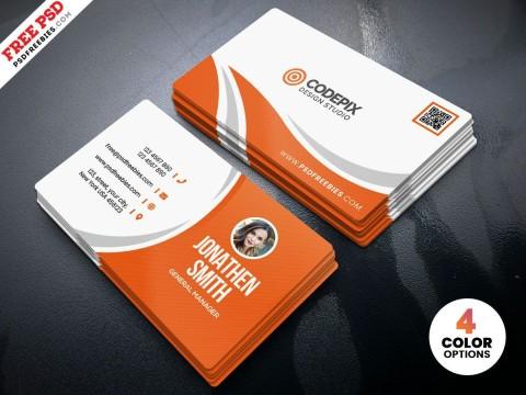 003 Singular Simple Busines Card Template Free Highest Quality  Minimalist Illustrator Design480