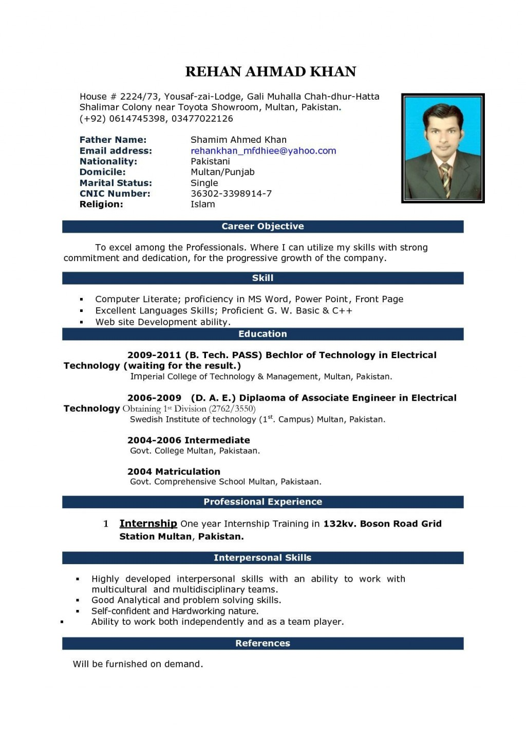 003 Singular Simple Resume Template Download In M Word Inspiration Large