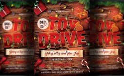 003 Singular Toy Drive Flyer Template Highest Quality  Holiday Download Free Word