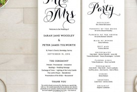 003 Singular Wedding Order Of Service Template Free Idea  Front Cover Download Church