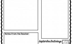003 Singular Weekly Newsletter Template For Teacher Free Highest Quality
