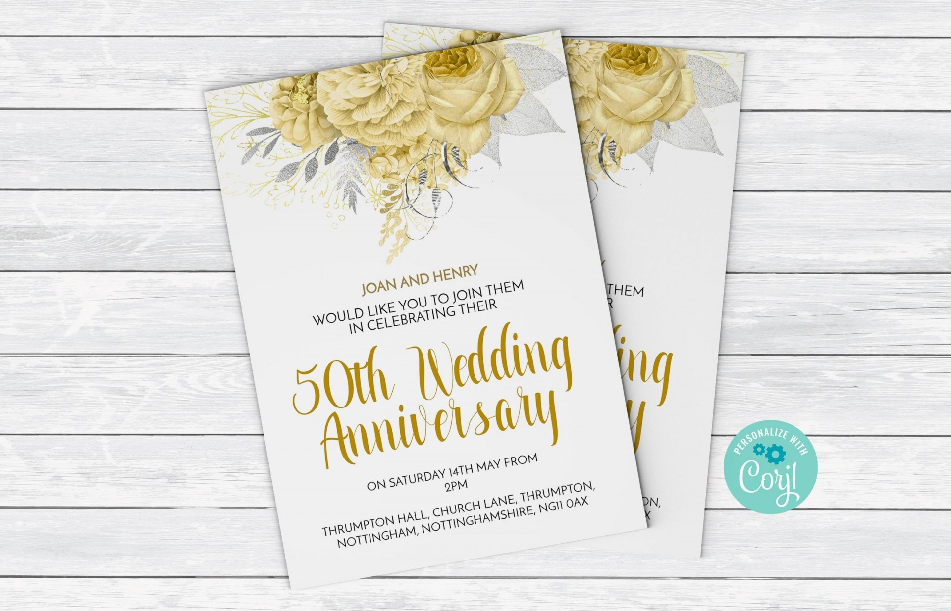 003 Staggering 50th Anniversary Invitation Template High Resolution  Wedding Microsoft Word Free Download1920