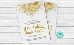 003 Staggering 50th Anniversary Invitation Template High Resolution  Templates Party Golden Wedding Free Download