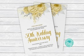 003 Staggering 50th Anniversary Invitation Template High Resolution  Wedding Microsoft Word Free Download