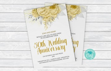 003 Staggering 50th Anniversary Invitation Template High Resolution  Wedding Microsoft Word Free Download360