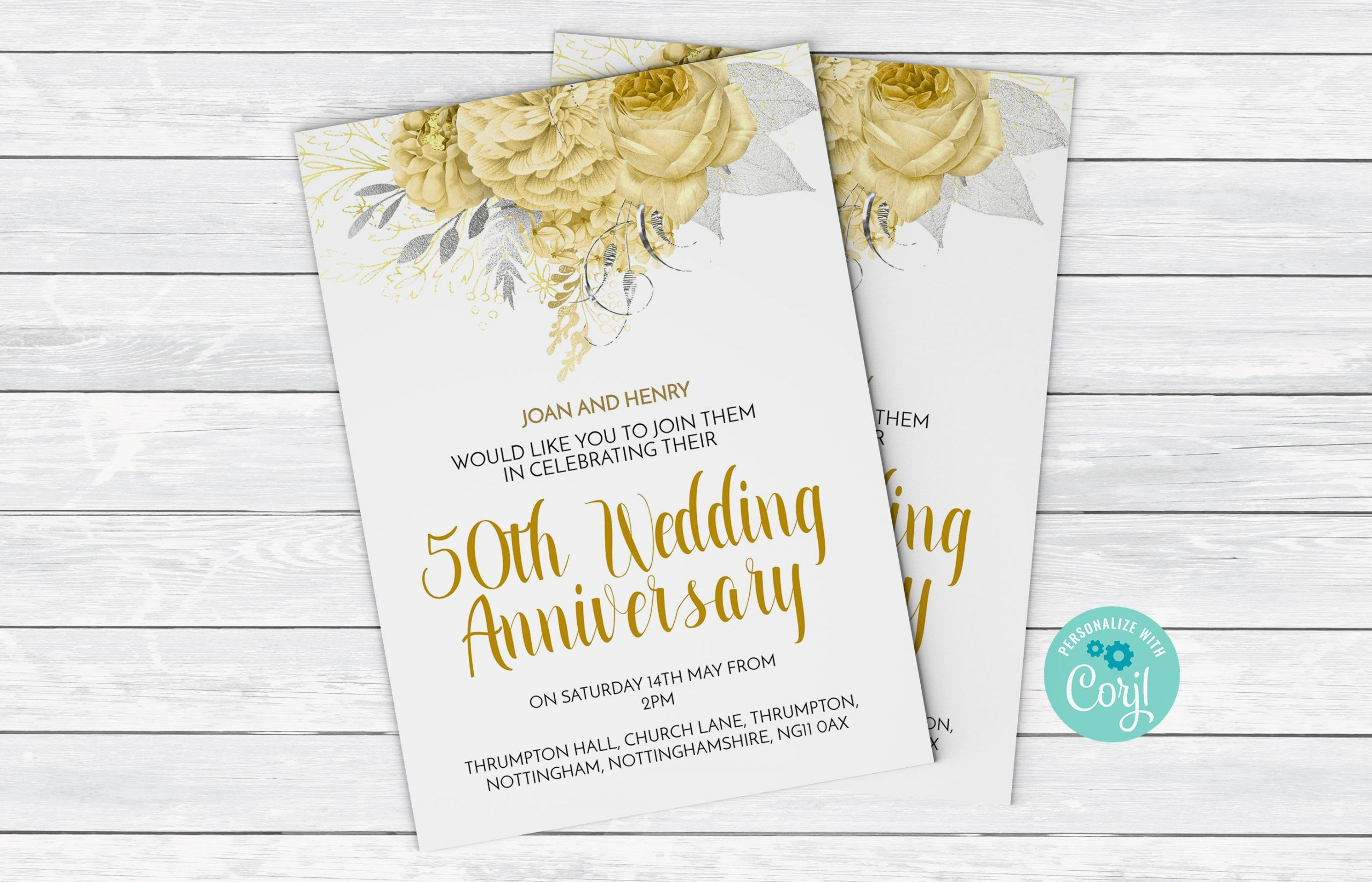 003 Staggering 50th Anniversary Invitation Template High Resolution  Wedding Microsoft Word Free DownloadFull