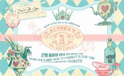 003 Staggering Alice In Wonderland Party Template High Resolution  Templates Invitation Free